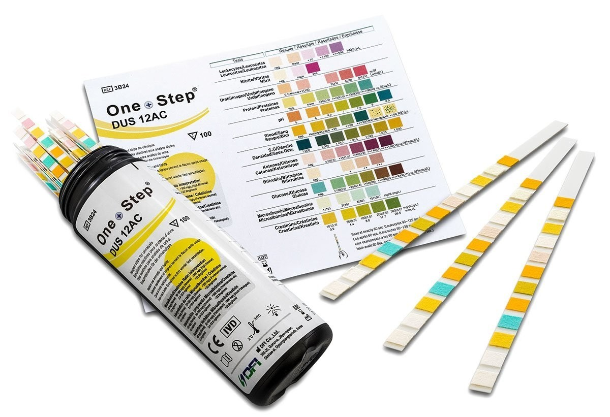 Gesundheitstest für Diabetiker 100 Stück - Urinteststreifen zur Bestimmung von 12 Werten